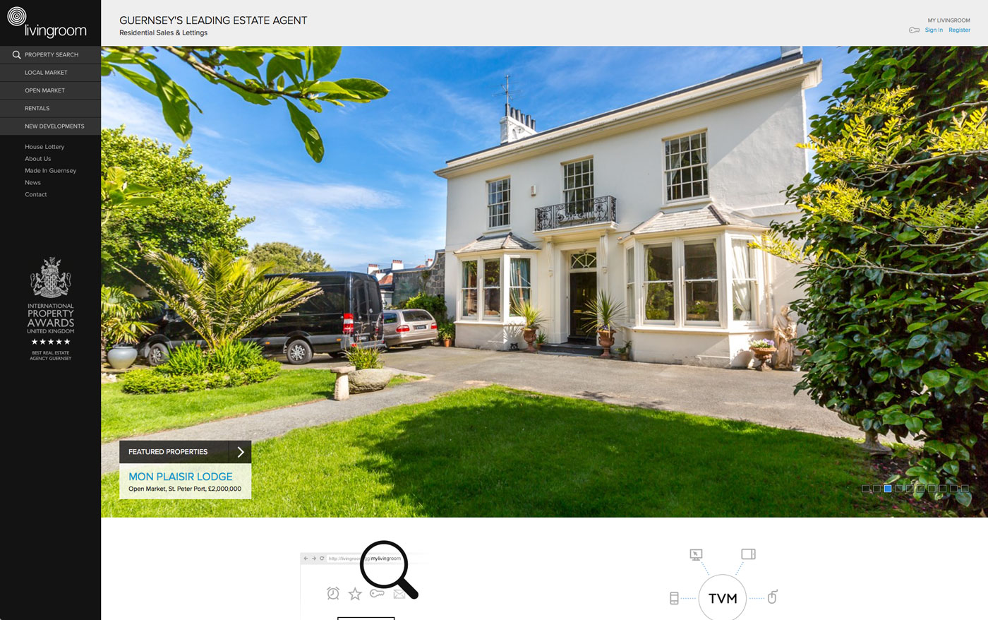 We Were Commissioned To Design And Develop Industry Leading Desktop Mobile Websites For Local Estate Agency Livingroom This Project Also Involved The